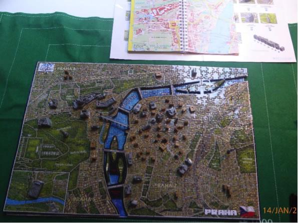 4D jigsaw of Prague